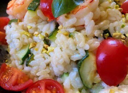 riso gamberi zucchine e cocco